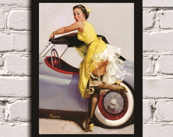 Poster com Moldura Pin Up Girl 8