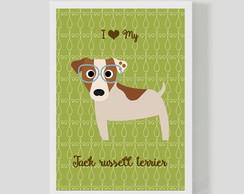 Quadro Dogs JACK RUSSELL