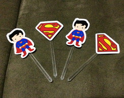 Kit 20 Toppers Super Herois