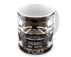 Caneca Star Wars - Yoda Music