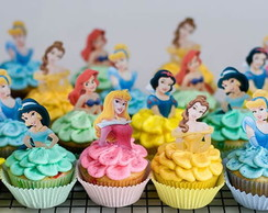 Toppers princesas para doces