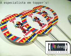 90 Toppers Circo do mickey