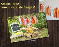 Varal de Franja Smash Cake LUXO COLORS