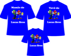 Kit Camisetas para Aniversario do Mario3
