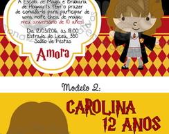 Convite Hermione Elo7