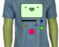 Camiseta do Bmo Hora de Aventura