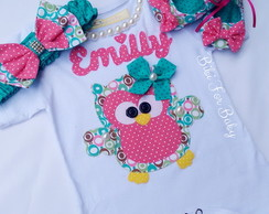 kit body corujinha Green Emilly