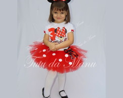 Fantasia Tutu Minnie com branco