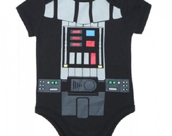 Body Bebê Star Wars Darth Vader Preto