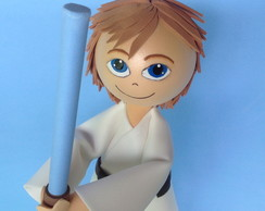Luke Skywalker star wars em Eva 3D
