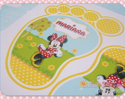 Pegadas Minnie e Mickey (12 pares)