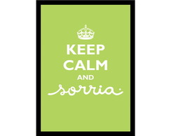 Quadro Poster Frases Keep Calm Green
