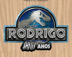 Placa Pvc Jurassic World