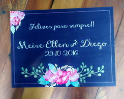 Placa Save the Date tipo Lousa 40x30