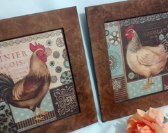 Kit Quadros Decorativos Galo