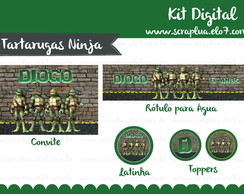 Kit Digital Tartarugas Ninja