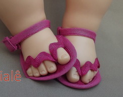 Chinelo pink Baby Alive Comer Brincar