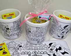 Caneca com kit colorir Minnie COMPLETA!