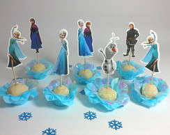 Kit topper Frozen recorte Elsa Anna Olaf