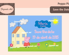 Arte Digital Save the Date Peppa Pig