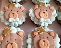Cupcake mini Decorado ursinho