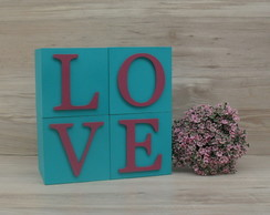 Cubos Decorativos LOVE 10 cm