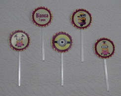 Toppers ou Tags Minions - Meninas