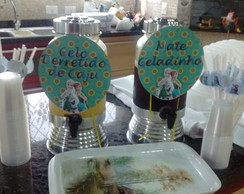 Aplique de escalope decorado Frozen Suqu