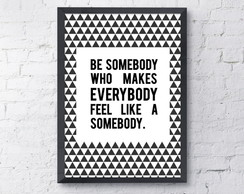 Poster Be Somebody