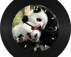 b3310a7703e ... Relógio de Vinil - Ursos Panda