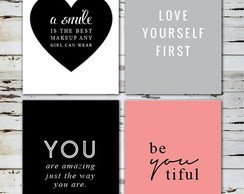 Kit Posters Smile,Yourself,You,Beautiful