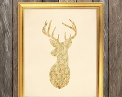 Poster Decor Silhouette Deer