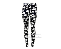 U - Calça Legging Jack Skellington