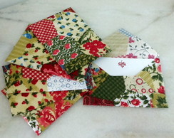 Conjunto Envelopes de Tecido Patchwork
