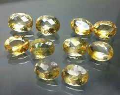 10 Citrinos naturais 25,5ct oval pares