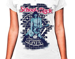 **CAMISETA FEMININA 3/4- SCHOOL ROCK
