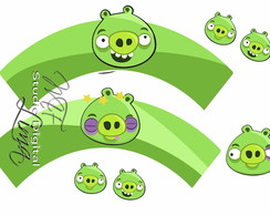 Wrapper para cupcake Angry Birds Digital