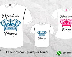 Camiseta Tema Príncipes e Princesas