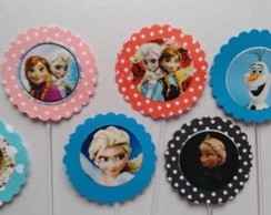 60 Frozen Topper Cup Cake Personalizados