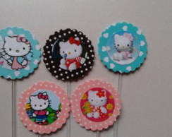 60 Hello Kitty Topper Cup Cake