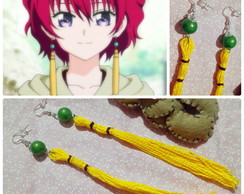 Brincos Yona do anime Akatsuki no Yona