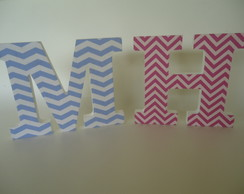 Letras Decoradas Chevron
