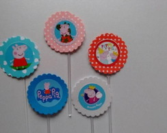 100 Peppa Pig Topper Cup Cake