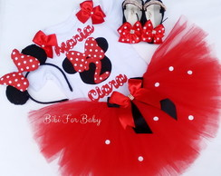 Kit Festa fantasia Minnie Vermelha 001