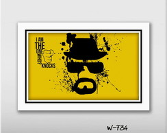 Quadro 60x40cm Breaking Bad Seriados Tv