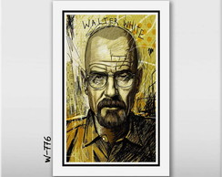 Quadro 60x40cm Breaking Bad Tv Seriados