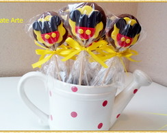 Pirulito de chocolate Mickey