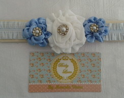 Head Band Baby Luxo Azul