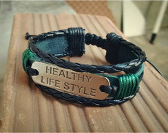 Pulseira em couro Healthy Life Style