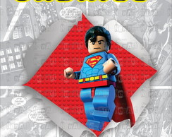 Placa - Superman Lego